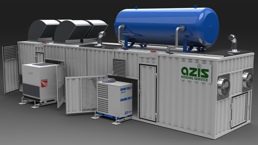 Kontenerowa wytwornica azotu WA-700